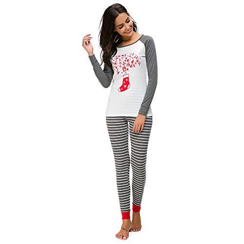 NRUTUP Women Christmas Pyjama PJs Set Long Sleeve