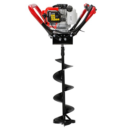 XtremepowerUS V-Type 55CC 2 Stroke Gas Ice Post Hole Digger W/8' Ice Auger Bit