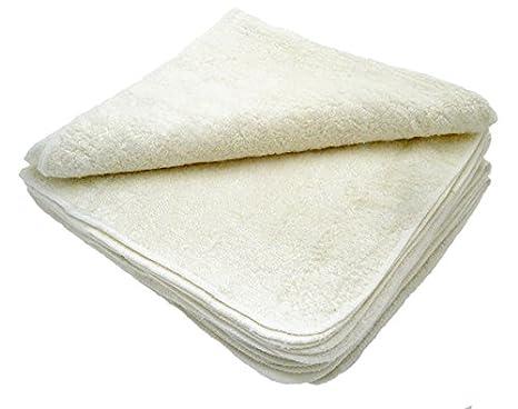 MuslinZ® 12 toallitas de bambú de algodón de rizo, 20 x 20 cm, toallitas reutilizables para bebé blanco blanco: Amazon.es: Bebé
