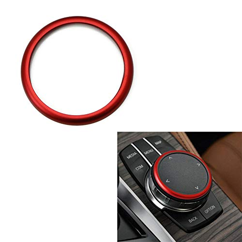 Duoles 1pc Aluminum Ring for BMW 1 2 3 4 5 6 7 Series X3 X4 X5 X6 Center Console iDrive Multimedia Controller Knob - Bmw Console