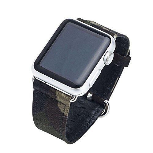 Cuitan Langlebig Leinwand Uhrenarmband für 42mm Apple Watch iWatch, mit Adapter Ersatzband Uhrband Watch Strap Wrist Band Armband Watchband für Apple Watch (Nicht enthalten Uhren)