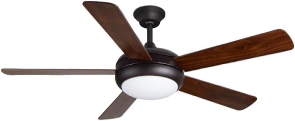 Hoja de Madera Negra Ventilador de Techo luz Simple Ventilador ...