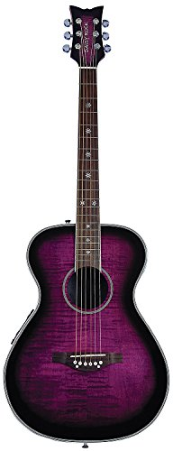 Daisy Rock 6 String Acoustic-Electric Guitar, Plum Purple Burst (DR6222-A-U)