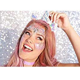 Holographic Chunky Glitter Makeup Set – 6 Jars iMethod Cosmetic Glitters Flakes for Festival Face Makeup, Body, Hair, Nail and other Occasions