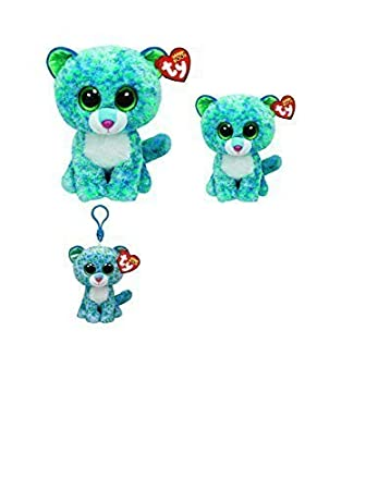 fdb64b707a7 Beanie Boo Leona the Leopard Exclusive Set of 3 Including Clip-on ...