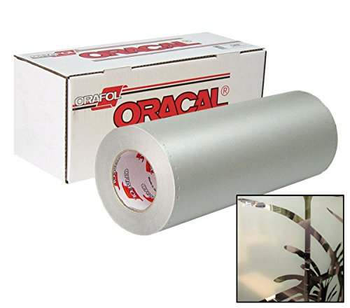 "ORACAL 8710 Frosted Translucent White Etched Glass Window Vinyl Roll for Cricut, Silhouette & Cameo (20"" x 12"")"