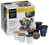 K-Cup Coffee for Keurig Brewers, Flavored Coffee Variety Pack, 60-Count, Bundled with 2 Organic Green Tea Bags