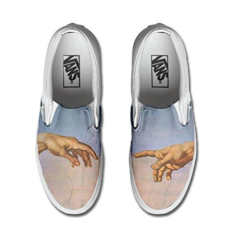 con Unisex - Adulto Make Your Shoes vans stampa artigianale personalizzata prodotto giudizio universale tg
