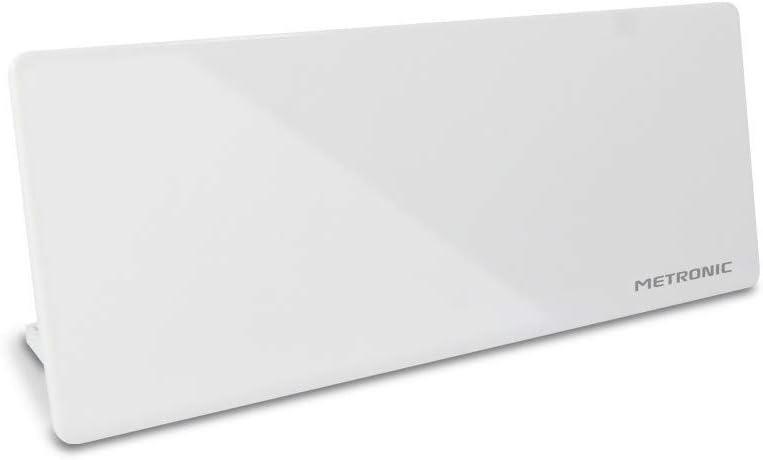 Metronic 416979 - Antena de televisión HD para Pared, Color Blanco