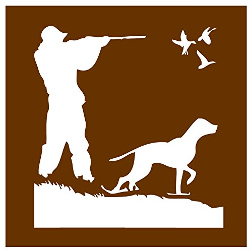 Auto Vynamics - STENCIL-HUNT-DUCKS - Hunting Ducks w/ Dog Individual Stencil from Detailed Hunting w/ Dogs Stencil Set! - 10-by-10-inch Sheet - Single - Auto Stencils Paint