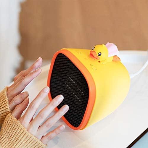 Bospyaf Petit Chauffe-Canard Jaune Ménage Chambre À Coucher À Économie D'énergie Chauffe-Mains À Chauffage Rapide À Économie D'énergie