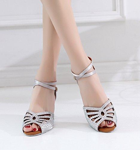 Heel MinishionUS Grey QJ7151 6cm Minitoo Femme Danse Salon de 6SU8ndxwq