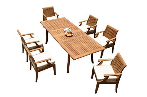 WholesaleTeakFurniture Grade-A Teak Wood 6 Seater 7 Pc Dining Set: 94