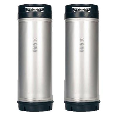 ASI CKN5DRHINX2PK New 5 Gallon Ball Lock Keg NSF Rubber Handle Set of 2