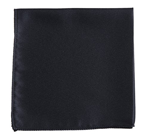 - Pocket Square Handkerchief in Solid Colors Sized for Boys and Men by Tuxgear Inc (Black)