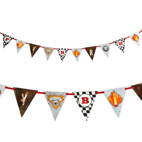 Monster Jam Party Supplies - Ribbon Flag Banner (Hot Wheels Party Invitations compare prices)