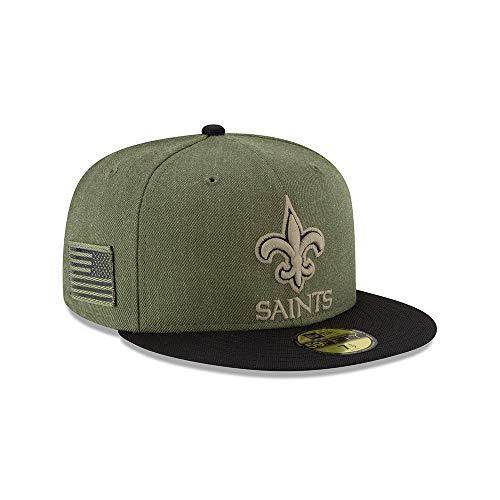 喪甘やかす癌ニューエラ (New Era) 59フィフティ キャップ - Salute to Service ニューオリンズ?セインツ (New Orleans Saints)