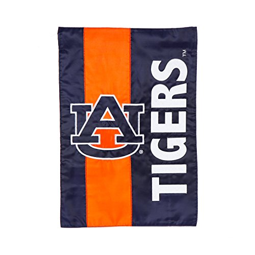 (Team Sports America Auburn University Outdoor Safe Double-Sided Embroidered Logo Applique Garden Flag, 12.5 x 18 inches)