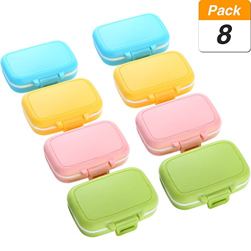 Jovitec Pill Cases 3 Removable Compartments Plastic Waterproof Pill Box Case Organizer Medicine Holder for Daily and Travel Use (8 Pieces) by Jovitec (Image #1)