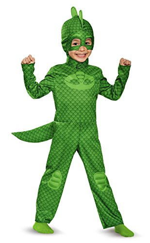 Gecko Costume (Gekko Classic Toddler PJ Masks Costume, Medium/3T-4T)