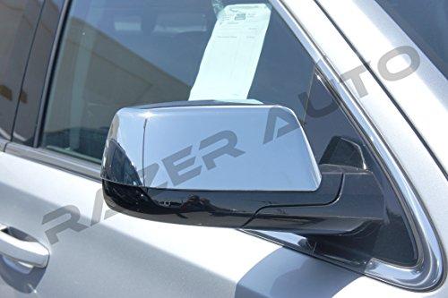 Razer Auto Triple Chrome Plated Mirror Cover for 2015-2016 Chevy Chevrolet Tahoe, Suburban, 2015-2016 GMC Yukon, Yukon XL, 2015-2016 Cadillac Escalade Without Mirror Turn Signal Chevrolet Tahoe Mirror Cover