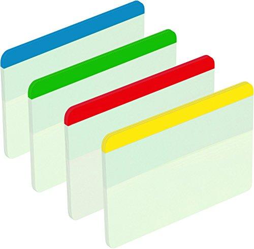 Post-it 686-F1EU Haftstreifen Index Strong, 50,8 x 38 mm, blau, grün, rot, gelb, 4 x 6 Stück