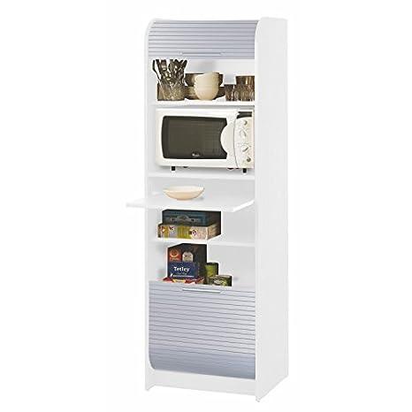 SIMMOB NANTES260BLA - Mueble de Cocina para microondas, Paneles de partículas de Madera melaminada, 180,7