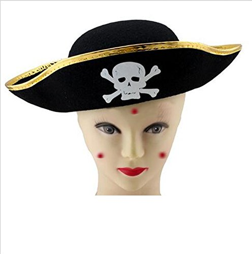 WLC Child Felt Pirate Hat Cosplay Costume Halloween Party Hat For Kids