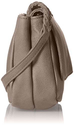 Liebeskind Berlin Kawai Double - Bolso bandolera Mujer Beige (dark stone 8441)
