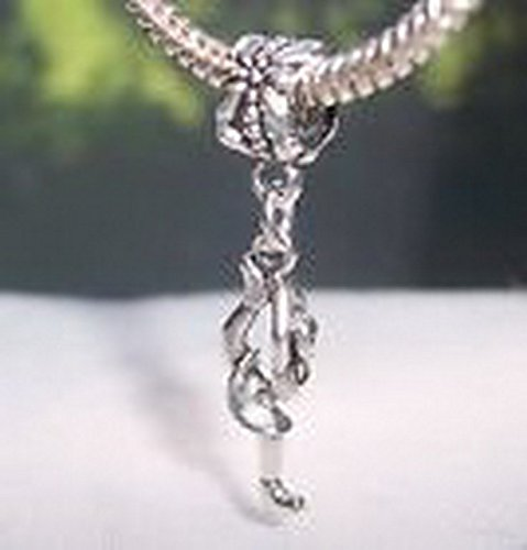 Glamorise Beads #14365 Ice Skater Dancer Skating Girl Dangle Bead fits Silver European Charm