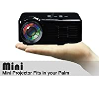 800 Lumens Mini LED LCD Projector HD Home Theater Cinema USB SD VGA HDMI AV ATV