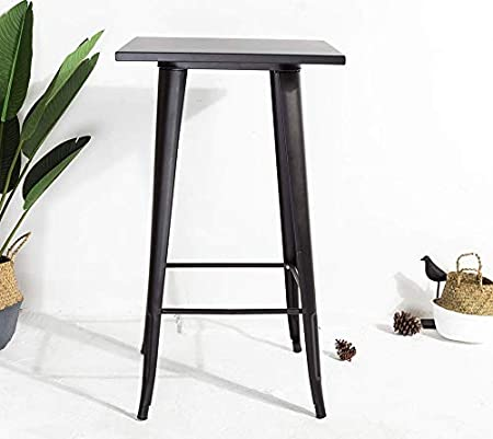 Ja Store Fr Table Haute Industrielle Factory Noire En Metal