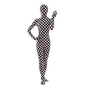 - 41ETq1JjlgL - Nedal Checkered Bodysuit Costume For Women Halloween Onesie Lycra Zentai