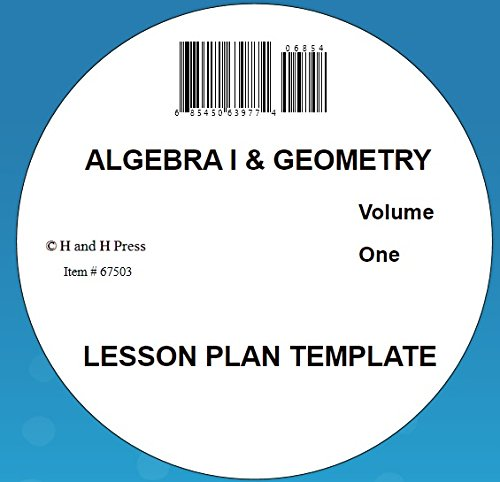 Algebra I and Geometry Lesson Plan Template