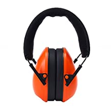 Ear Defender Ear Muffs Adjustable Noise Cancelling Headphones 26dB for Sleeping Studying Construction Shooting Hunting Drilling Sawing Welding Racing, Orange