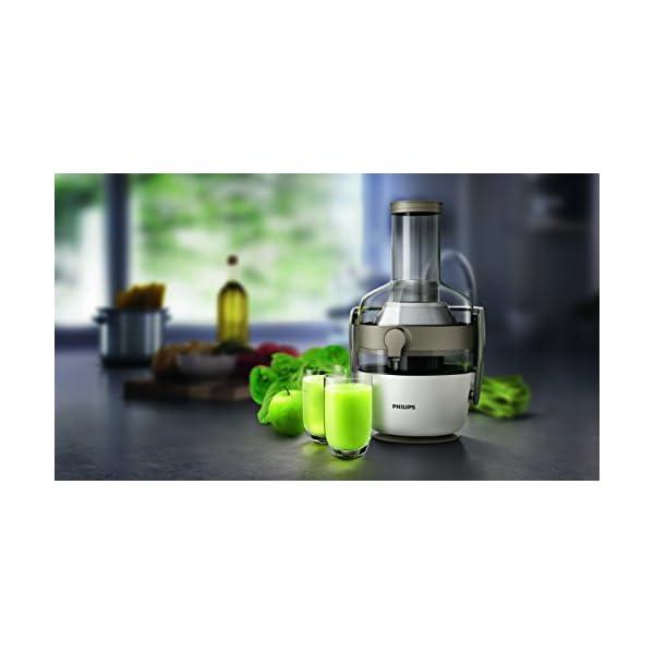 Philips HR1918/80 Centrifuga per Succhi di Frutta e Verdura, Tecnologia Fiberboost, Quickclean Plus per Pulizia Facile, 1000 Watt, Collezione Avance - 2021 -