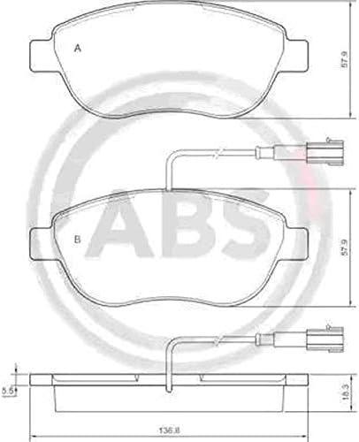 Abs Ecommerceparts 9145375027908 Kit 4 pastiglie freno anteriori ECP Kit 2 dischi freno anteriori