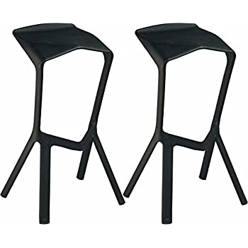 Mod Made Molded Plastic Aspect Barstool Black Set of 2  sc 1 st  Amazon.com & Amazon.com: Mod Made Mid Century Modern Geometric Aluminum ... islam-shia.org
