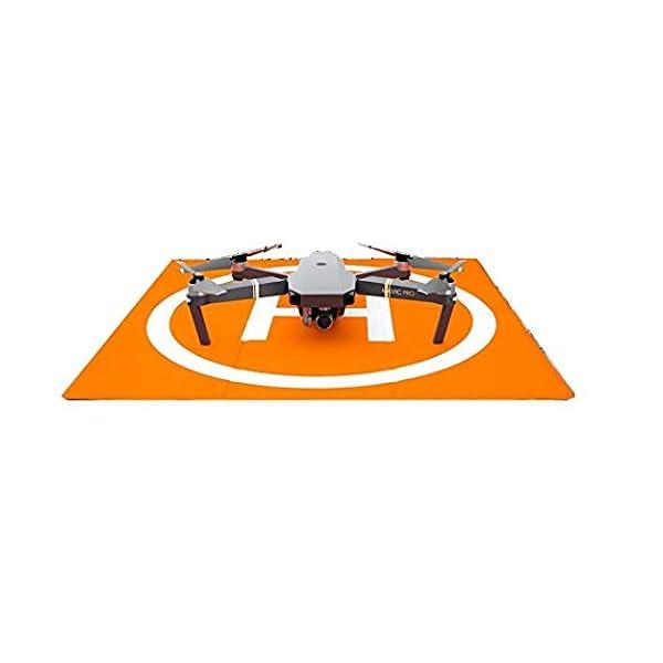 Changlesu RC Drone Landing Pad impermeabile PU portatile pieghevole tappetino di atterraggio per DJI Mavic Air/Mavic Pro/Spark, con borsa per il trasporto, design a doppia faccia 7 spesavip