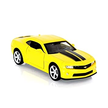 Yellow Licensed Camaro With Back 1 43 Cast Car Chevrolet Pull Die Ss Innovador Function