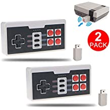 [Updated Verison] Wireless Controller Nintendo NES Classic Mini Edition Console - SNES Gamepad USB 2.4G Receiver (2 Pack)