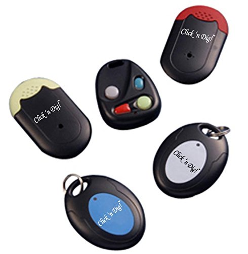 Image of Click n Dig Key Finder Wireless RF Item Locator Remote Control, Pet, Wallet, Keyfinder-Free Extra Batteries