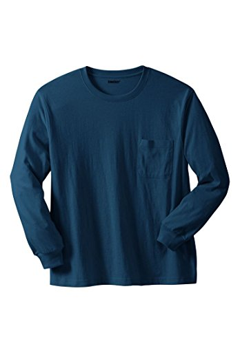 Airborne Long Sleeve T-shirt (Kingsize Men's Big & Tall Shrink-Less Long Sleeve Pocket Crewneck Tee, Navy)