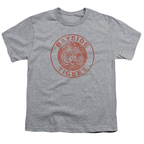 Saved by The Bell Bayside Tigers NBC Youth T Shirt & Stickers (Small)
