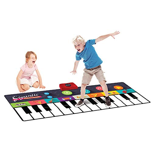 Floor Piano Mat 71 Inches 24 Keys Battery Operated Foldable Floor Keyboard Piano Dancing Activity Mat Musical Keyboard…