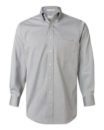 Van Heusen Men's Long-Sleeve Non Iron Pinpoint Oxford Shirt, French Grey, Medium (Wrinkle Heusen Free Shirt Van Dress)