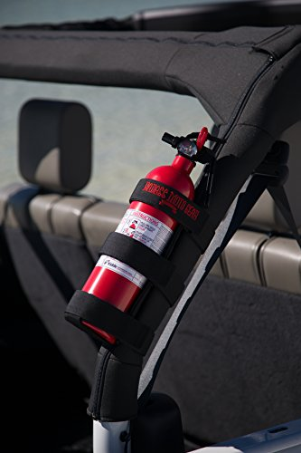 Badass Moto Gear Adjustable Roll Bar Fire Extinguisher Holder for Jeeps – Durable Stitching. Easy Install. for Jeep Wrangler, Unlimited, CJ, JK, TJ, Rubicon, Sahara, Sport. Extinguisher not Included. by Badass Motogear (Image #3)