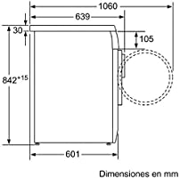 Balay - Secadora de condensación 3SC871B con capacidad de 7 Kg ...