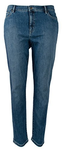 Lauren Ralph Lauren Women's Plus Size Skinny Cropped Slim Fit Jeans-SW-14W