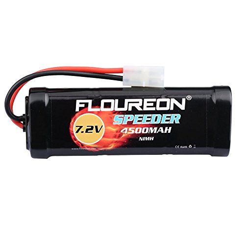 FLOUREON 7.2V 4500mAh NiMH 6 Cell Rechargeable RC Battery Pack with...
